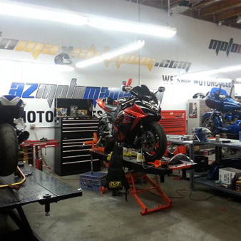 Motorcycle repair shop in mesa workshop
